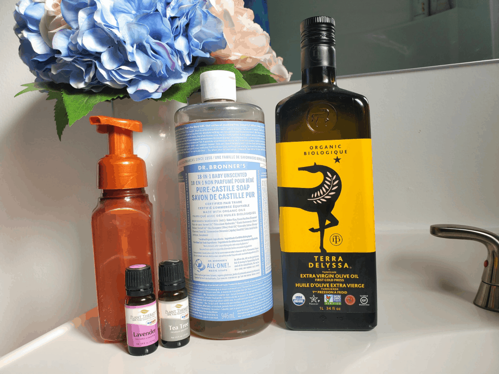 Ingredients for making foaming hand soap