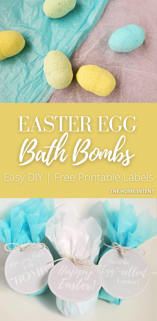 Easter egg bath bombs with shea butter. These are moisturizing, simple to make and completely customizable! #DIY #bathbombs #sheabutter