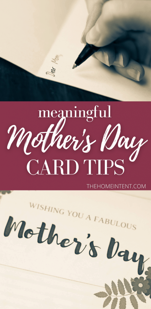 A Meaningful Mothers Day Card: How to Write It and Why It's Important #mothersday #mother #holiday #celebrate #card #gift