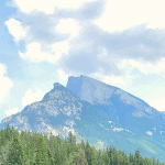 mountain on a sunny day