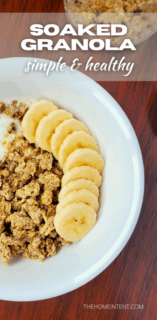 Dehydrator Granola Recipe with Soaked Oats #simple #healthy #soaked #breakfast #granola #dehydratorrecipes