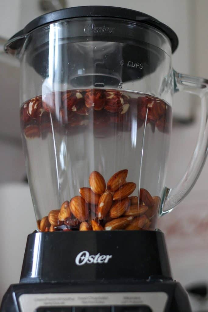 blender with ingredients for recipe