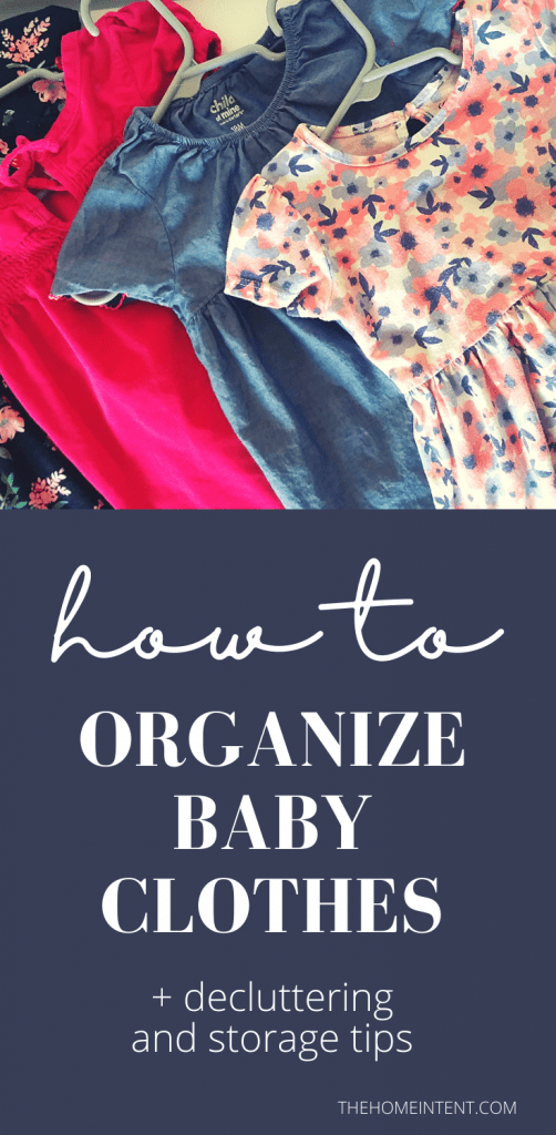 How to organize baby clothes (+decluttering & storage tips) #organization #minimalism #baby #intentional living