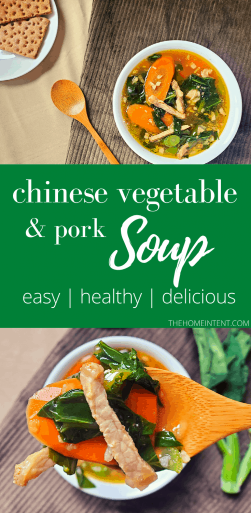 The Best Chinese Vegetable Soup Recipe with Pork #easy #dinner #bonebroth #nourishing #asianinspired