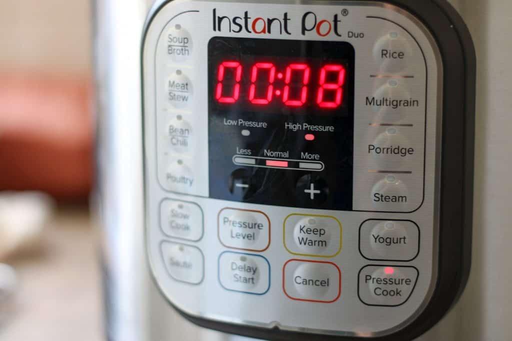 instant pot settings