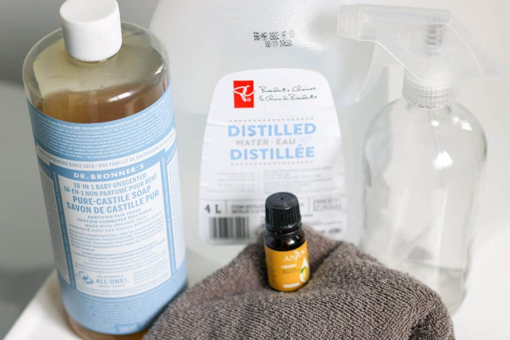 Ingredients for diy all purpose cleaner without vinegar