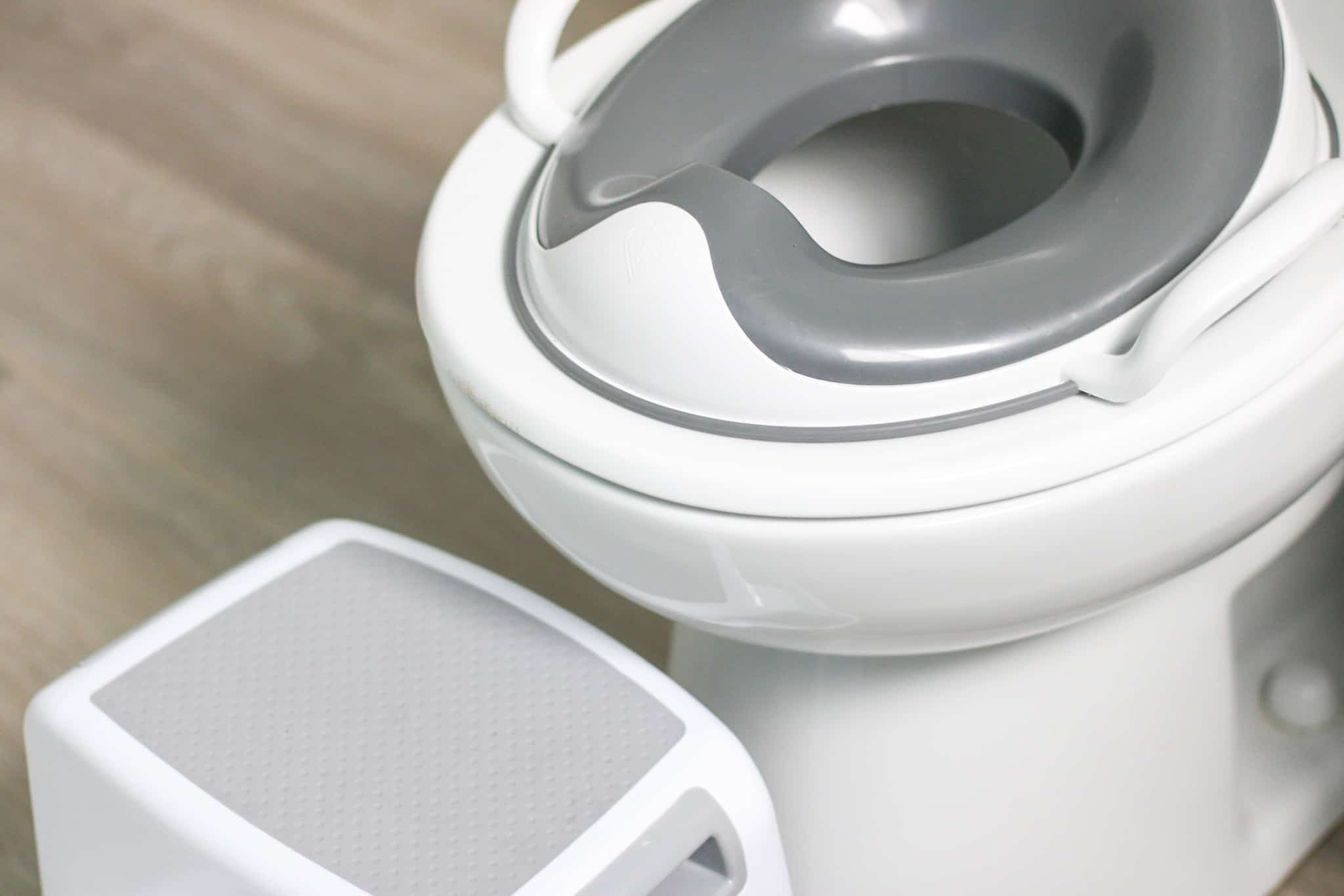 toilet seat reducer and step stool