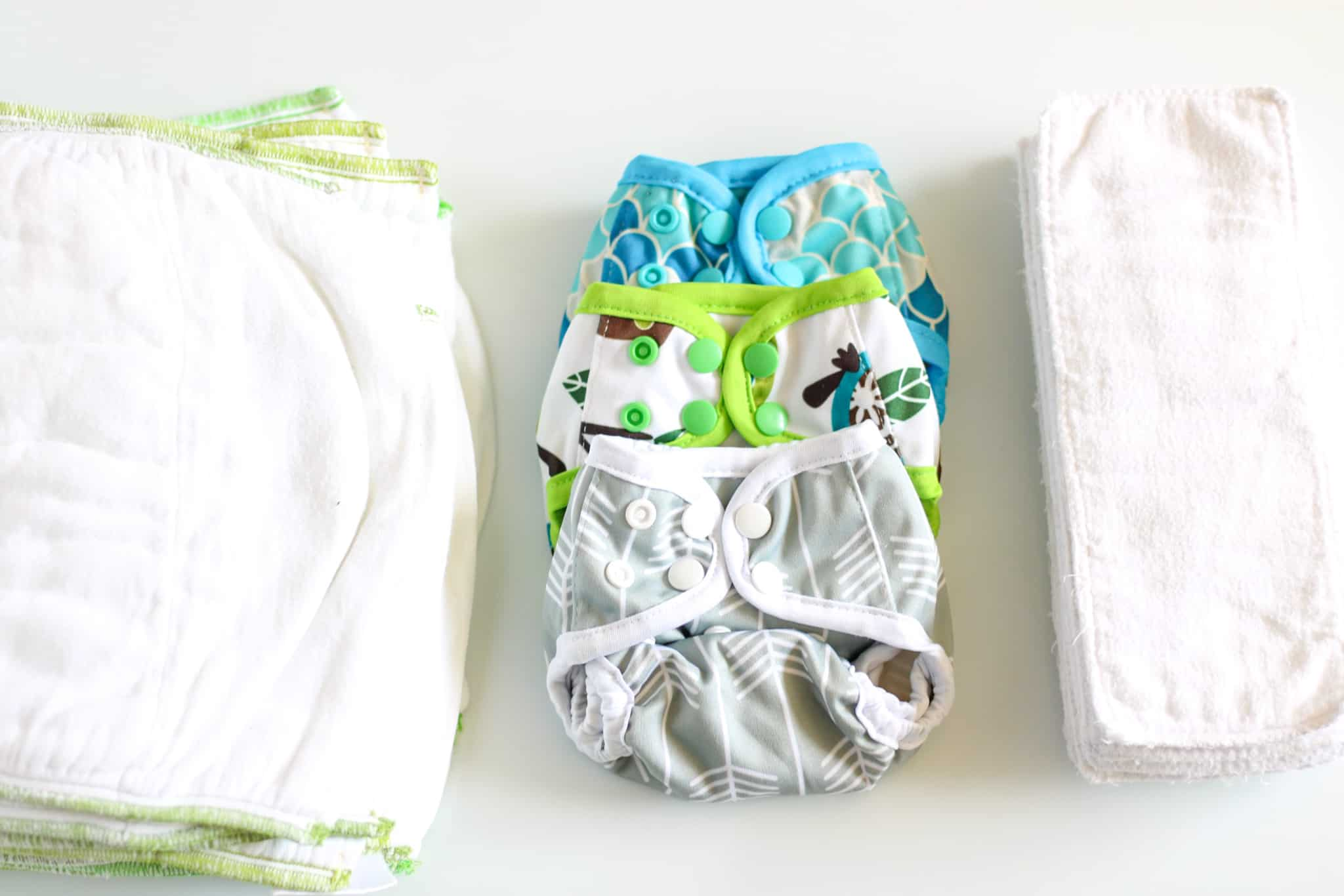 diaper prefolds, covers and inserts