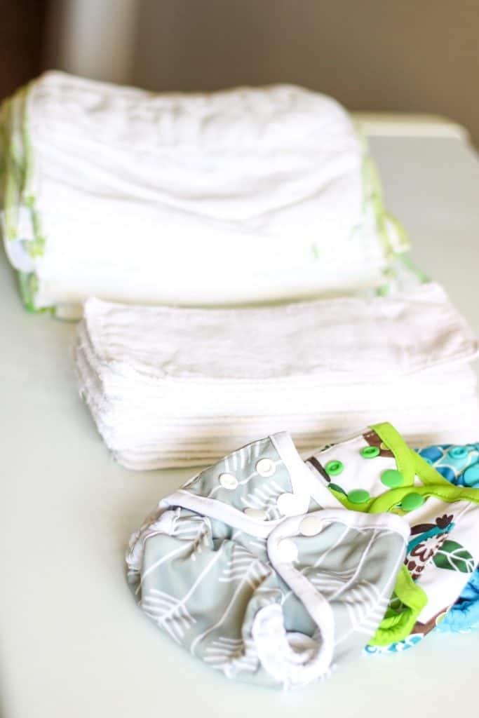 newborn diaper covers, prefolds and inserts