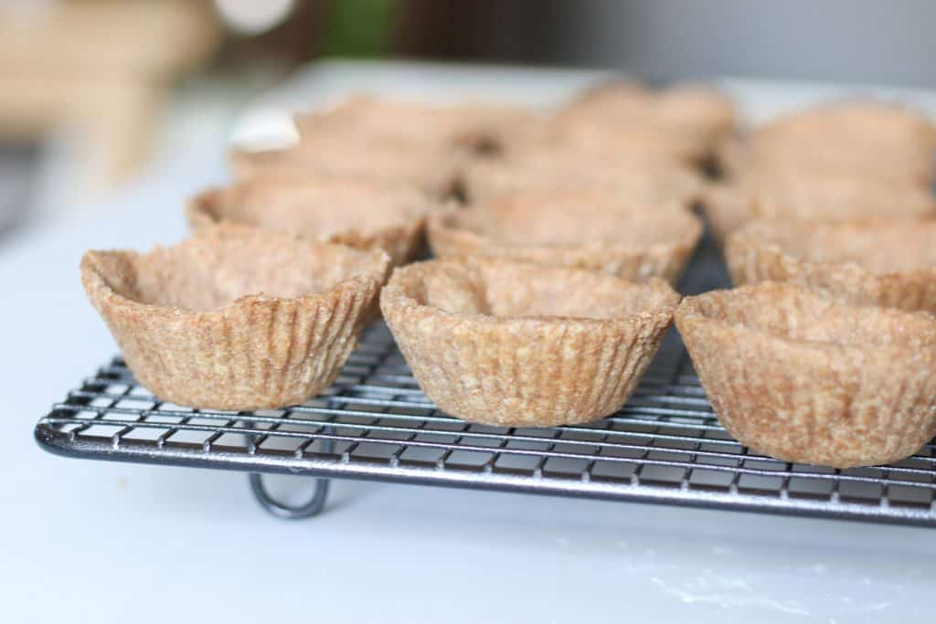 cooling tart shells on wire rack
