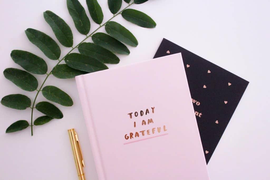 Gratitude journals and pen