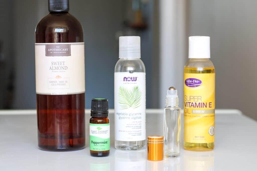 ingredients for making diy lip oil