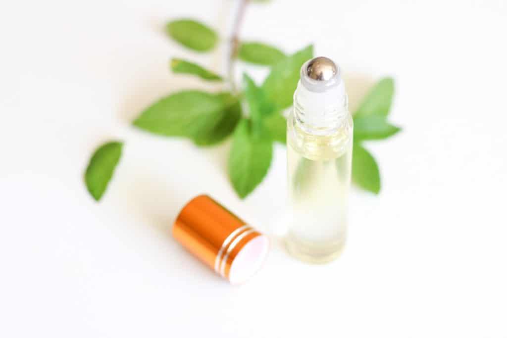 open bottle of diy lip oil