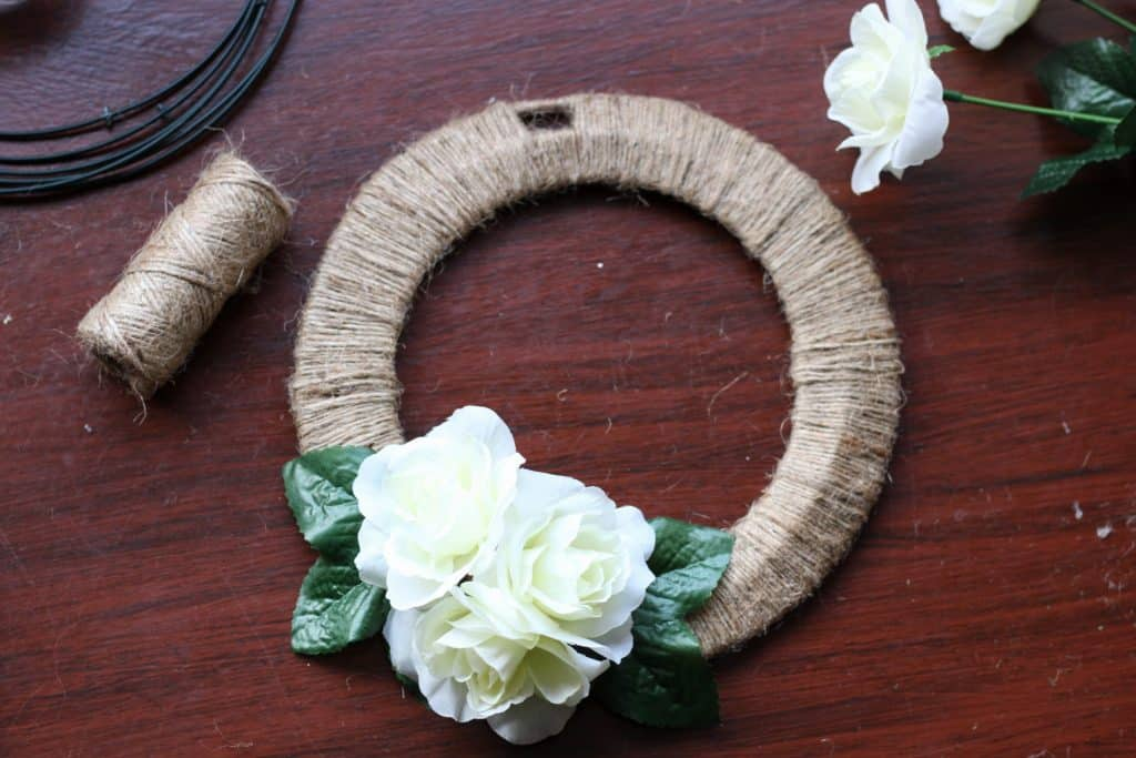 completed diy wreath
