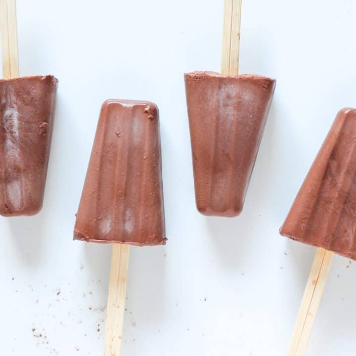 chocolate popsicles lined up