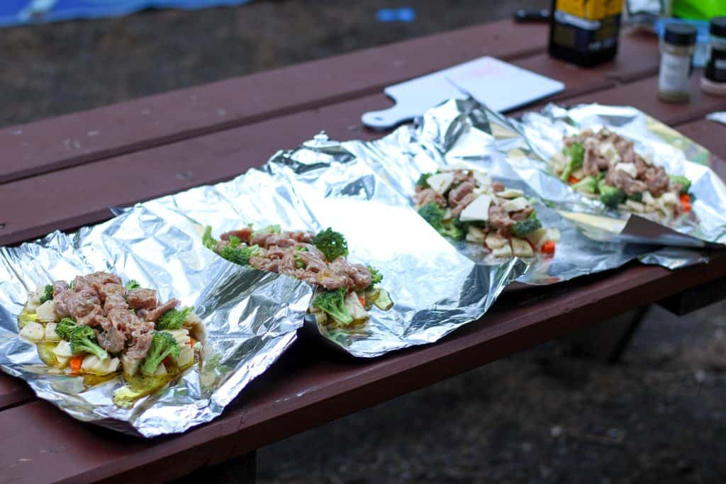 foil packet dinners ready for folding