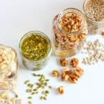 soaking nuts and seeds in jars