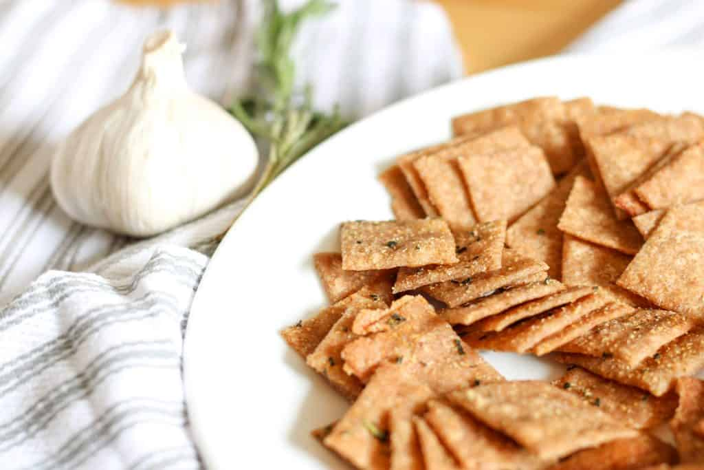 plate of crackers