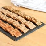 crackers on a board