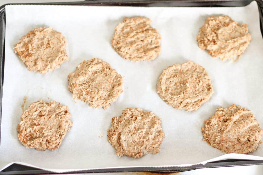 formed cookies before baking