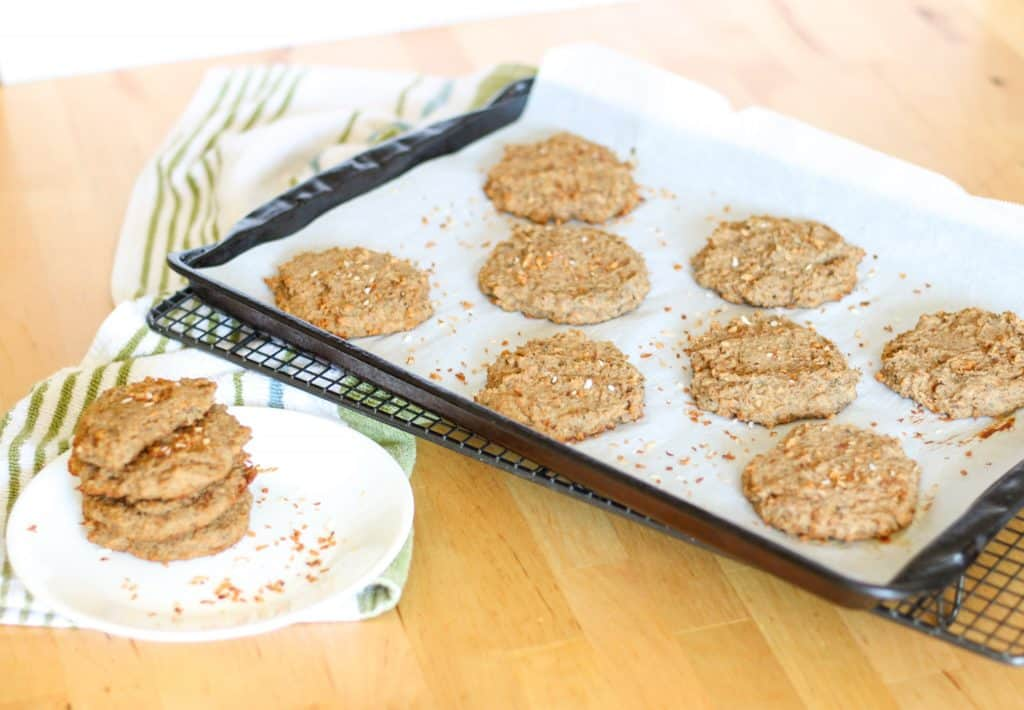 coconut cookies on a tray and plate
