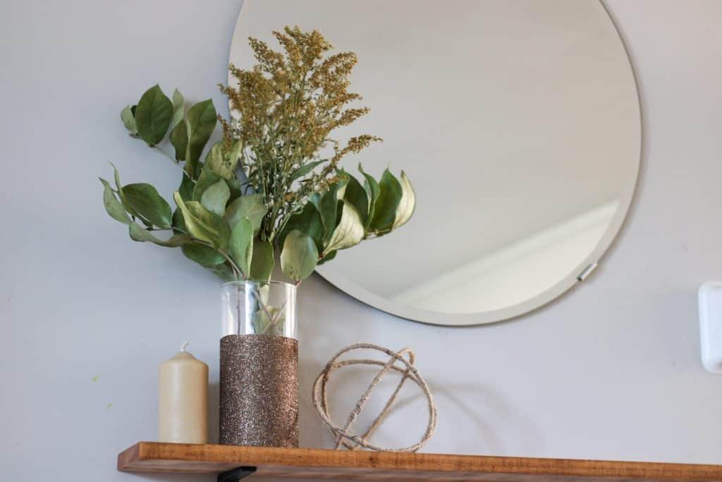 decor on shelf