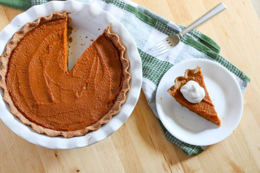 pie with slice cut out