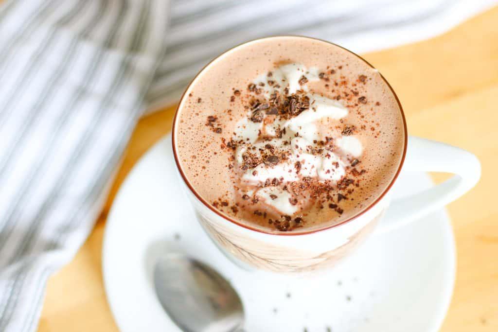 dairy free hot chocolate in mug
