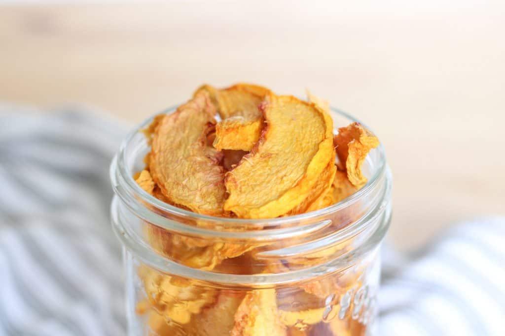 jar of dried peaches