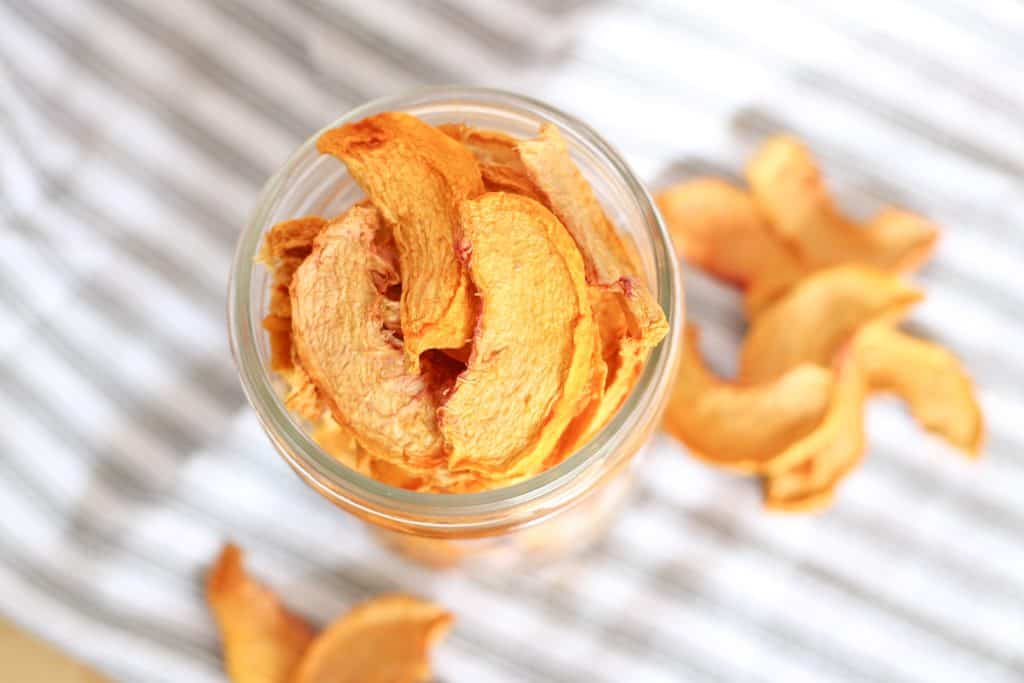 jar of dehydrated peaches