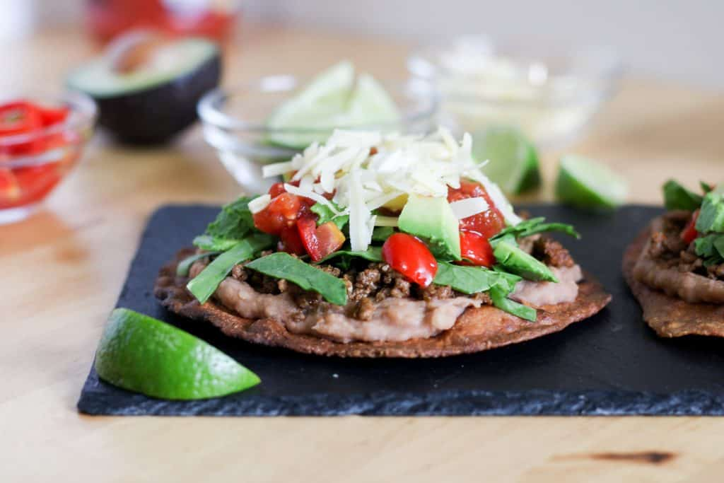 tostada with all the toppings