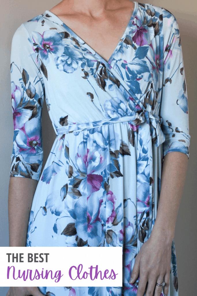 woman modeling wrap dress
